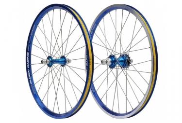 Paire de roues Global Racing Vector X 1´´3/8 Bleu