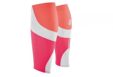 manchons de compression skins essentials mx orange rose m