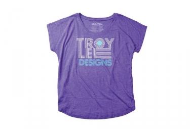 t shirt femme troy lee designs linear dolman violet m