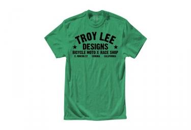 t shirt enfant troy lee designs raceshop vert kid m