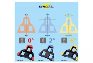 shimano paire de cales route sm sh10 spd sl rouge 0