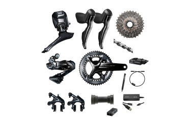 shimano 2017 groupe complet dura ace r9150 di2 11v 172 5mm 52 36 dents 11 30