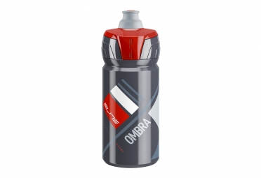 bidon elite ombra 550ml gris rouge