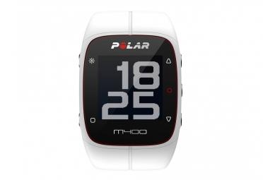montre gps polar m400 hr avec ceinture cardiaque blanc