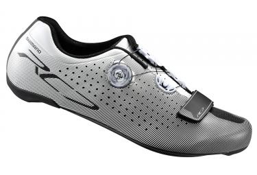 paire de chaussures route shimano 2017 sh rc700 blanc 45 1 2