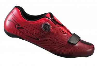 paire de chaussures route shimano 2017 sh rc700 rouge 43