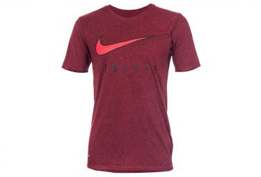 maillot homme nike dry athlete rouge l