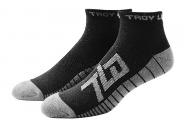 chaussettes vtt troy lee designs factory quarter medium noir 39 43