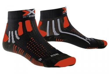 paire de chausssettes x bionic effektor noir rouge 39 41
