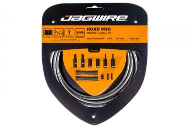 kit cable et gaine pour frein route jagwire road pro gris