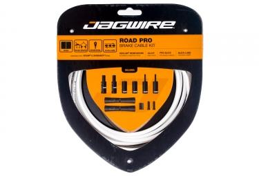 Kit cable et gaine pour frein route jagwire road pro blanc