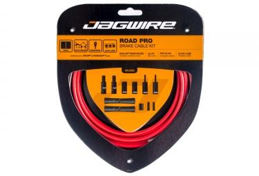 kit cable et gaine pour frein route jagwire road pro rouge