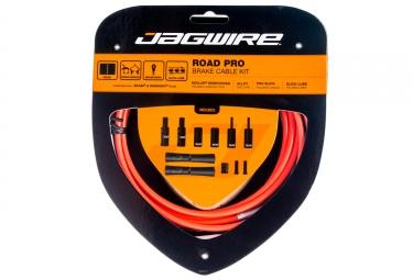 kit cable et gaine pour frein route jagwire road pro orange