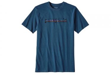 T-Shirt Patagonia 73 Text Logo Bleu