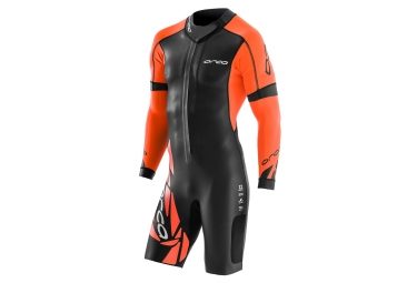 combinaison orca swim run core noir orange s large