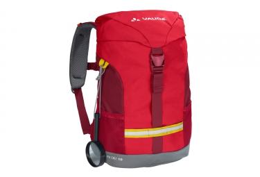 sac a dos enfant vaude pecki 10 rouge gris