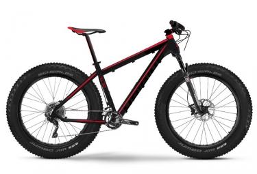 fatbike haibike 2017 fatcurve 6 30 26 noir rouge 45 cm 156 166 cm