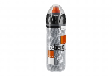 bidon elite iceberg thermo orange gris 500ml