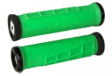 ODI Elite Flow Grip Green Lock-On Black
