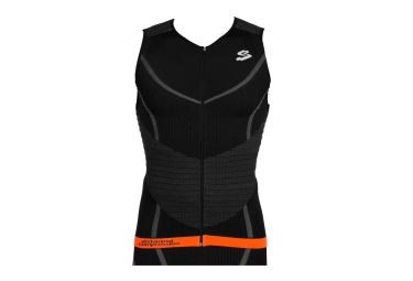 Maillot sans Manches Triathlon SPIUK 2017 Long Distance Noir Orange