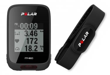 POLAR Compteur GPS M460 Noir avec Ceinture Cardiaque H10