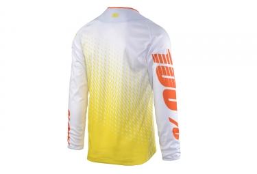 maillot manches longues 100 r core supra blanc jaune xl