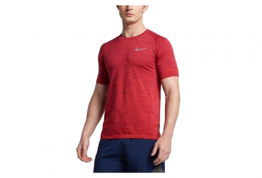 maillot nike dri fit knit rouge homme l