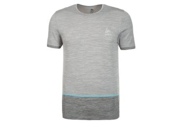T shirt running manches courtes odlo 2017 seamless kamilero gris l
