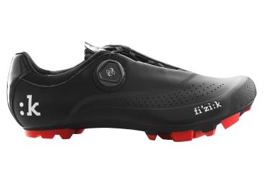 paire de chaussures vtt fizik m4b uomo boa noir rouge 42 1 2