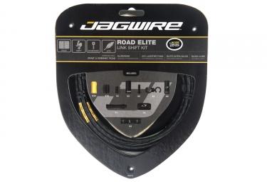 kit cable et gaine route jagwire road elite link pour derailleur limited edition noir