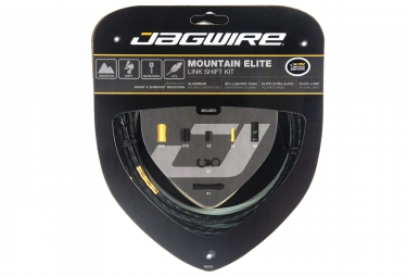 kit cable et gaine vtt jagwire mountain elite link pour derailleur limited edition noir