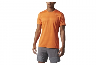 Adidas running maillot manches courtes supernova orange l