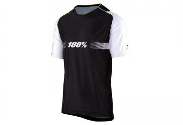 maillot manches courtes 100 celium solid noir blanc m