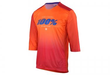 maillot manches 3 4 100 airmatic blaze orange s