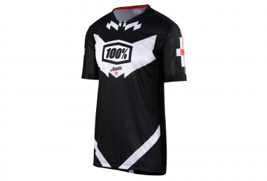 maillot manches courtes 100 airmatic jeronimo noir blanc s