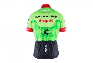 maillot manches courtes poc 2017 cannondale drapac pro team vert l