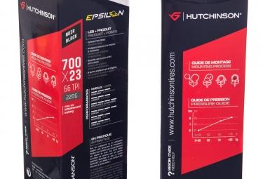 lot de 2 pneus hutchinson epsilon reinforced 700mm 2 chambres a air 23 mm