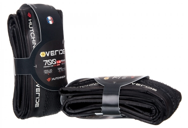 Lot de 2 Cubiertas HUTCHSINSON Overide 700x38C Tubeless Ready - Hardskin + Protect'Air Max 120ml