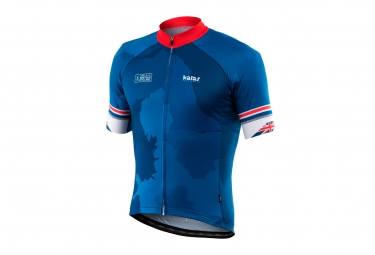 maillot manches courtes kalas pro bc inspired bleu rouge m