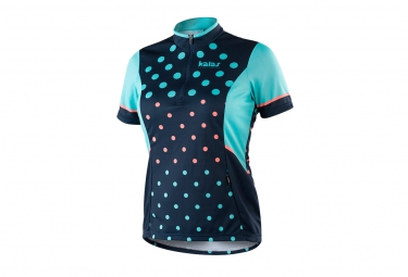 maillot manches courtes femme kalas biker x6 bleu l