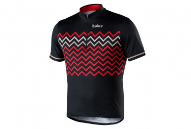 maillot manches courtes kalas biker x6 noir rouge xl
