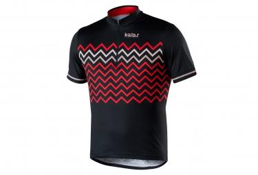 Maillot Manches Courtes Kalas Biker X6 Noir Rouge