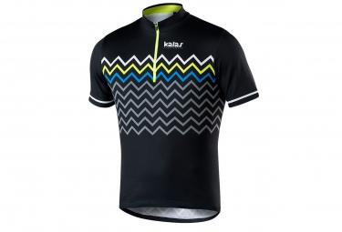 maillot manches courtes kalas biker x6 noir jaune m