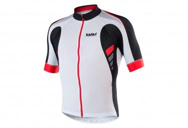 maillot manches courtes kalas titan x6 blanc noir rouge l