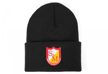 bonnet s m patch noir