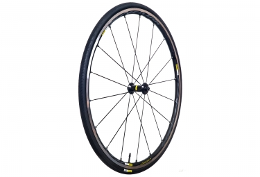 mavic roue avant ksyrium elite noir pneu yksion pro 25mm