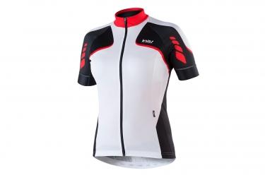 maillot manches courtes femme kalas titan x6 blanc noir rouge m