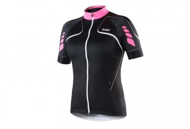 maillot manches courtes femme kalas titan x6 noir rose l
