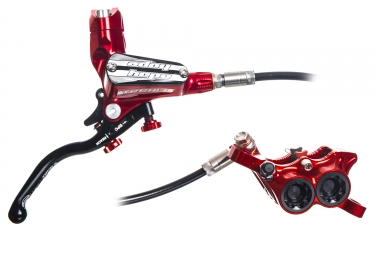 Hope Tech 3 E4 Brake - Rear RH Lever Standard hose Red