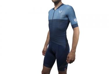 maillot manches courtes lebram izoard bleu coupe pro m